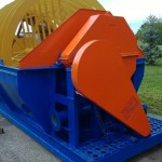 Bucket recovery and dewatering machinery with 1 wheel of 500 mm